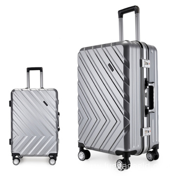 Shiny trolley cases luggage women