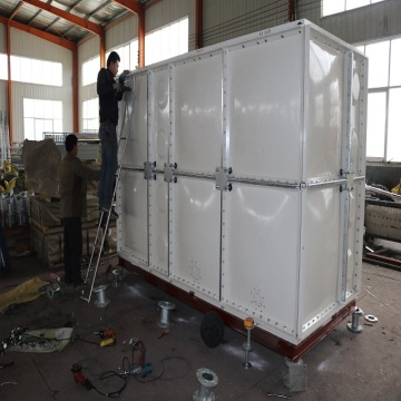 Multifunctional 5000L Sectional Panel GRP Water Storage Tank Or Fish Tank