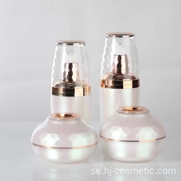 Luxurious onion shape acrylic pink cosmetic bottles/jars with good price