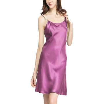 100% Slip Silk Pajama Sleepwear Sexy Nightgown Nightie