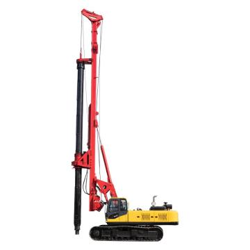 highway guardrail pile driver machine