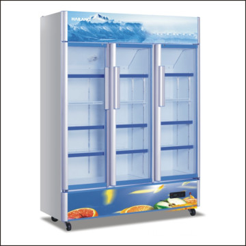 High Quality Beverage Upright Glass Door Display