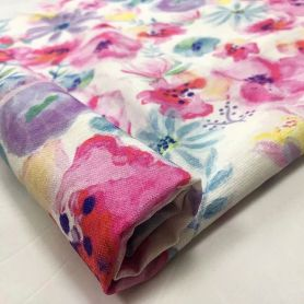 Rayon nylon digital print woven fabric for dresses