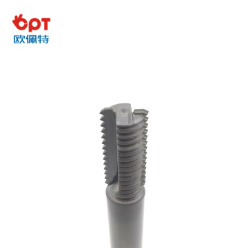 PCD groove thread milliing rod cutter for metal