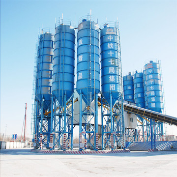 Commercial large high performance concrete batching plant