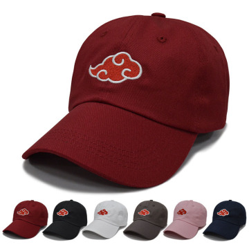 3D Embroidery Hats Baseball Caps Snapback Red Clouds