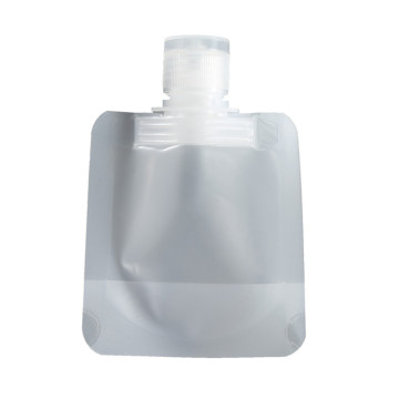 transparent packaging stand up pouch with spout