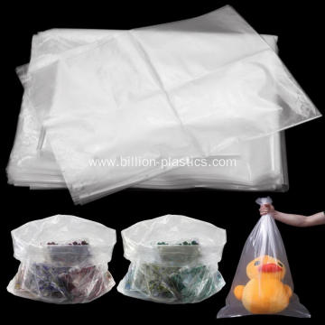 Clear Poly Bags Flat Open Top Plastic Packaging