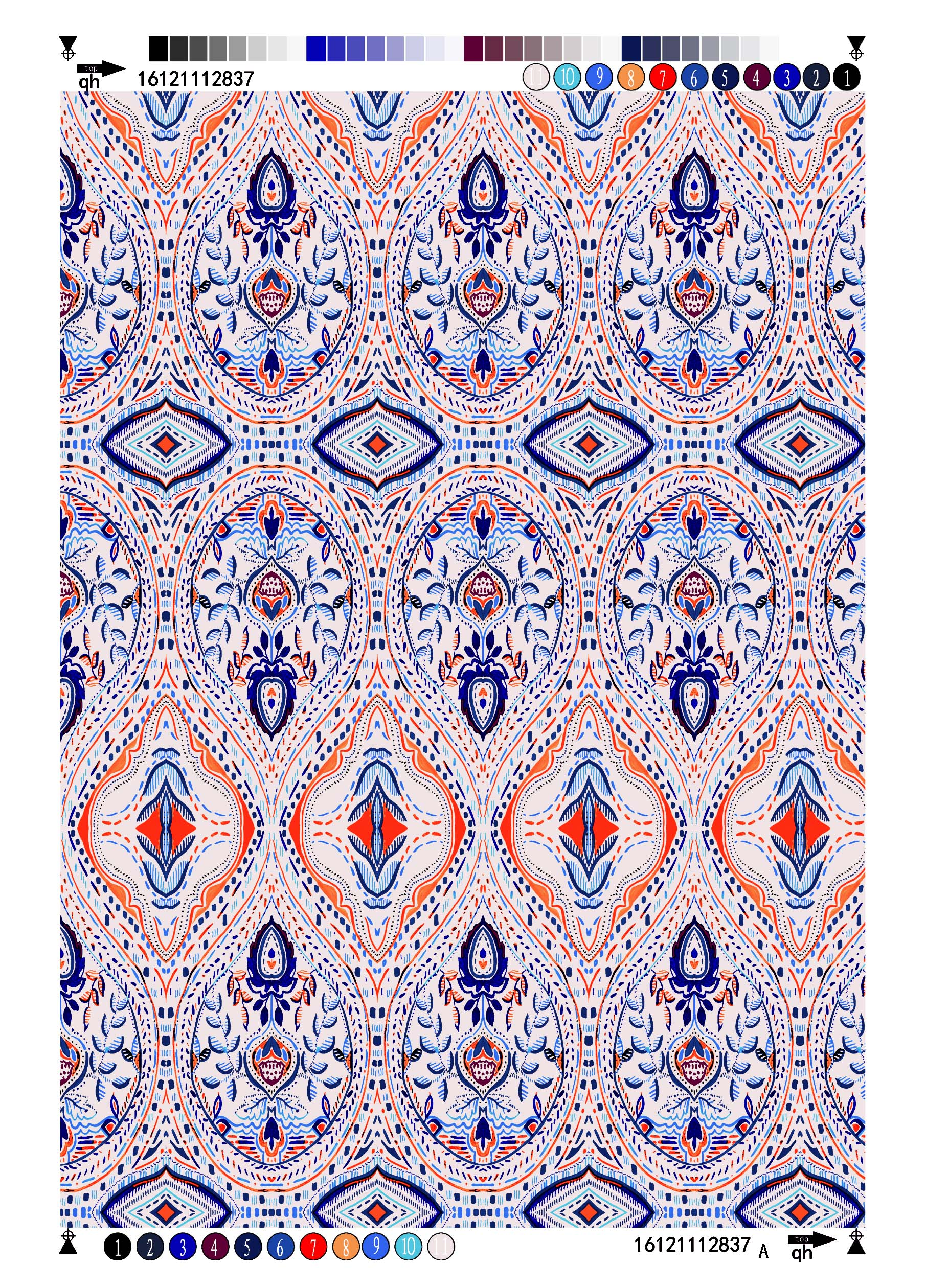 Rayon Voile printing fabric Ethnic Design