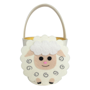 Easter sheep shape easter felt candy bag