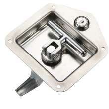 Silvery Cabinet 304 Stainless Steel Handle Panel Locks