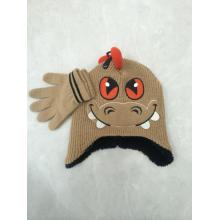 Animal Children Winter Knitting Hat Gloves