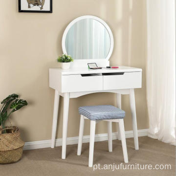 Wooden Material Home Furniture General Use small bedroom simple dressing table