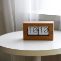 Large Bamboo Wood Flip Clock