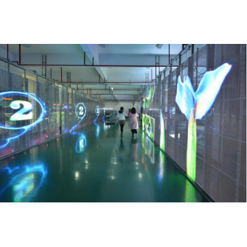 Easy installation hot sale transparent led wall