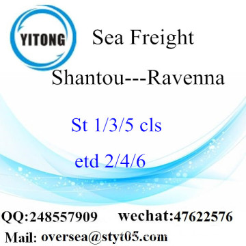 Shantou Port LCL Consolidation To Ravenna