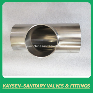 ISO/IDF Sanitary welded Tee pipe fittings