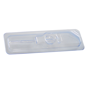 Medical device injection syringe blister thermoforming box
