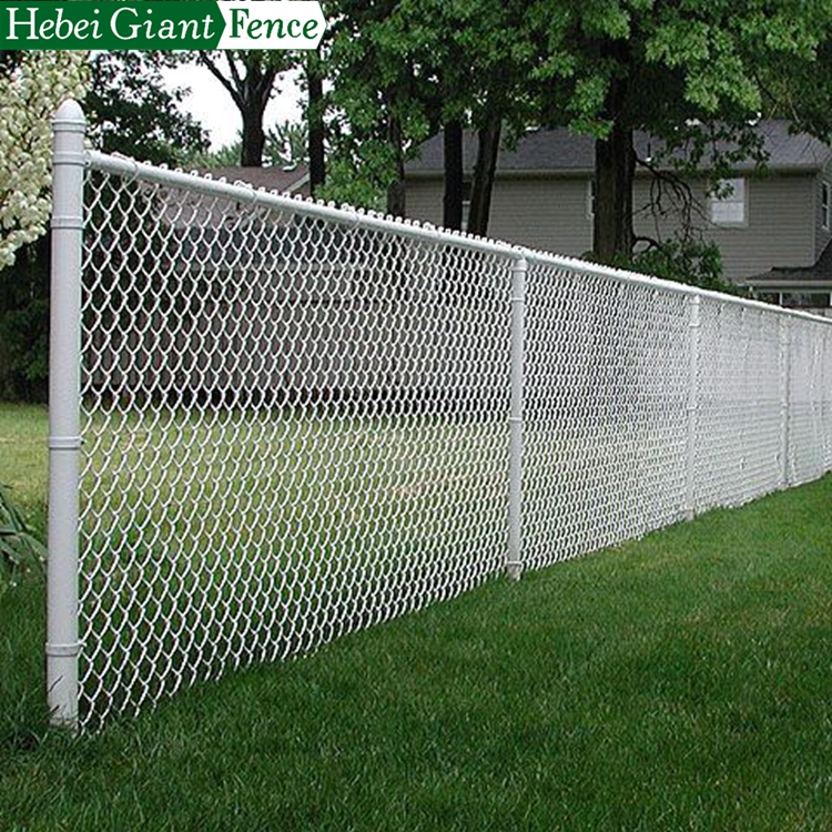 Easily Assembled PVC Coted Galvanized Chain Link Fence