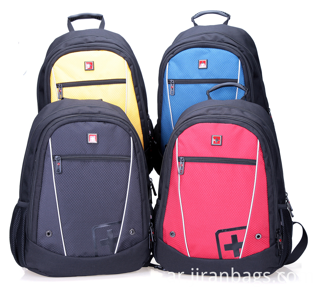 Four fashional colors school backpack