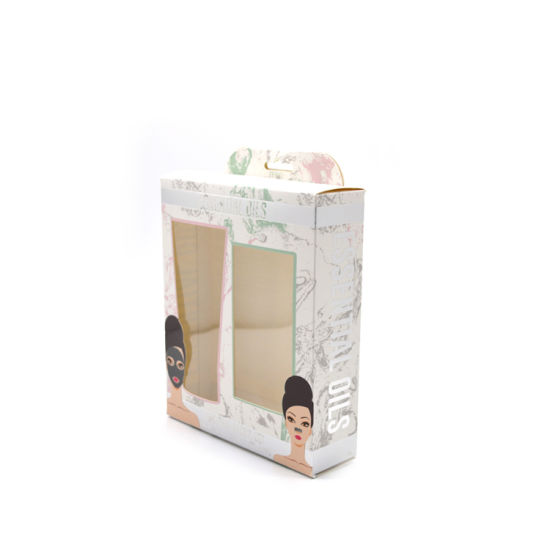 Custom Cosmetic Foldable Gift Paper Box With Window