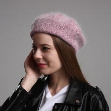 New Winter Warm Beret Hats For Women Girls 30% Rabbit Fur Knitted Hat Fashion Beanie Cap