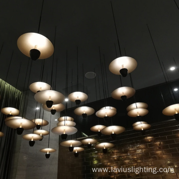 Customized home villa glass copper led pendant light