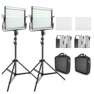 L4500 LED Video Light 2 in 1 Kit Photographic Lighting Studio Lamp Bi-color 3200K-5600K Photo Light with Tripod for Youtube
