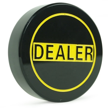 Large Black Acrylic Casino Dealer Puck