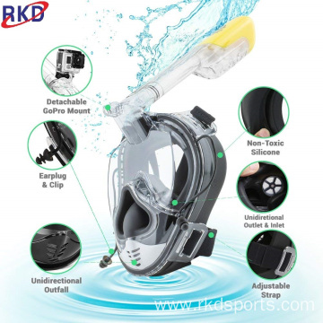 Professional Optical Full Face Snorkel Mask Free-Diving