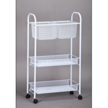 3 Tier Square Rolling Cart