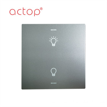Customized hotel light 2 gang smart switch