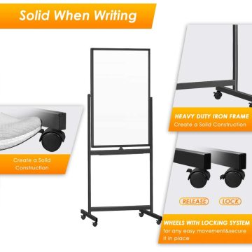 360 Reversible Double sided Writing Boards With Wheels