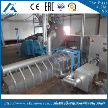 Full automatic AL-2400 S 2400mm non woven fabrics making machinery with ISO9001 certificate
