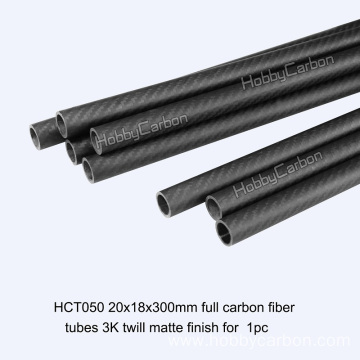 CNC Cutting Full 3K Carbon Fiber Round Tube