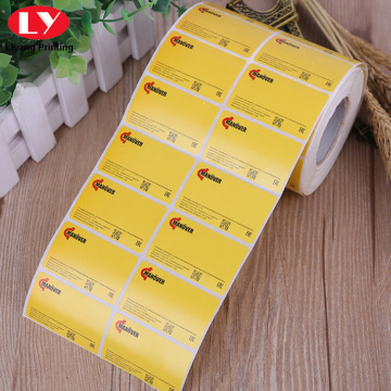 Custom Vinyl Sticker Label Printing PVC Stickers Roll