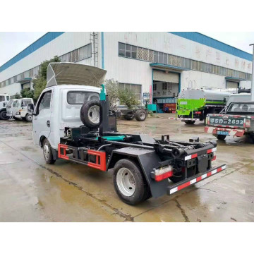 4x2 small garbage trucks with hook arm lift