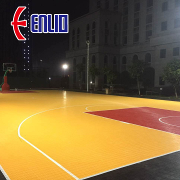 Multi-purpose Sports Flooring Interlocking Court Tiles