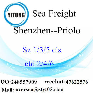 Shenzhen Port LCL Consolidation To Priolo
