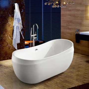 Oval Bath Tub Freestanding Bath Acrylic Indoor