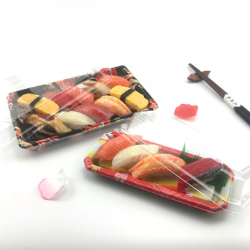 Take-away frozen food packaging plastic sushi tray