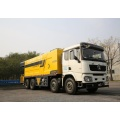 Fiber synchronous chip seal spreader truck