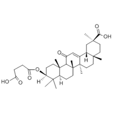Olean-12-en-29-oicacid, 3-(3-carboxy-1-oxopropoxy)-11-oxo-,( 57356805, 57263075,3b,20b)-  CAS 5697-56-3