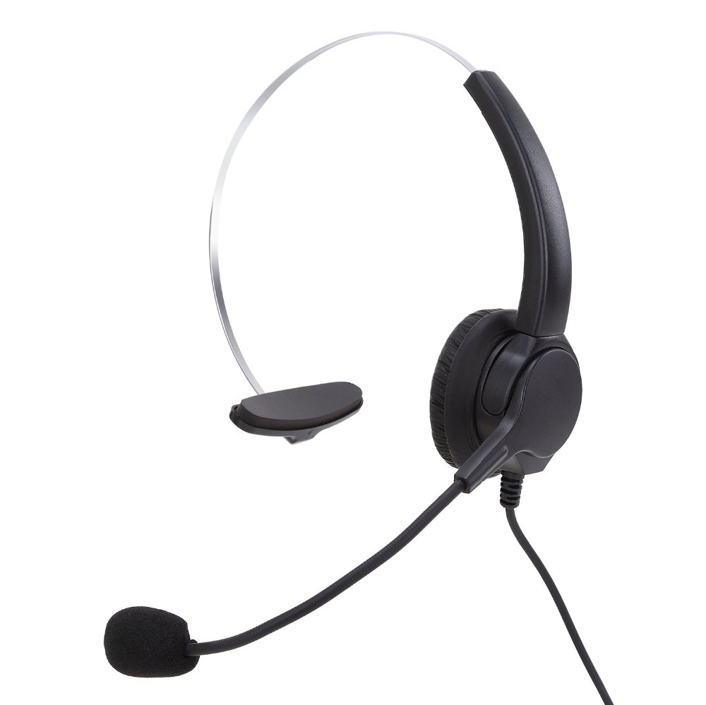 Corded Telephone Hands Free Headset Telephone Noise Cancelling Telephone Headset with Mic for Call Center and Telemarketing