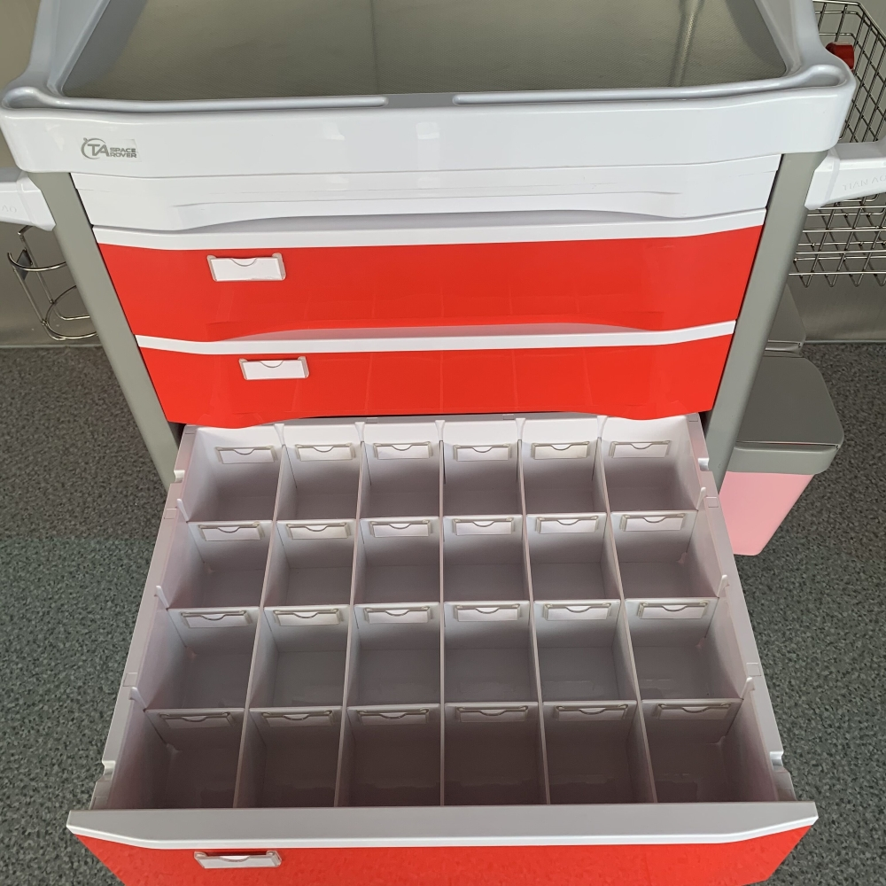 Medical Practical Emergency Trolley Cart