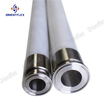 Stainless steel wire reinforced silicone tube