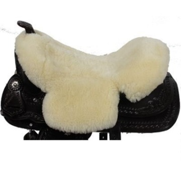 Genuine sheepskin saddle seat cover