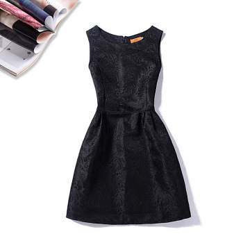 Sleeveless Vintage Dress Little Black Dress For Lady