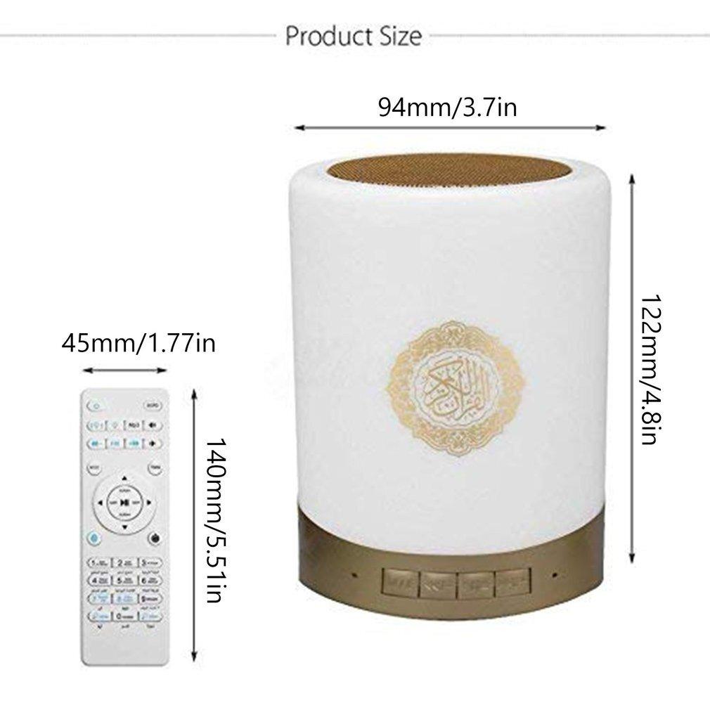 speaker bluetooth light touch control table lamp koran speaker Quran Reader Muslim Speaker Player islamic gift quran speaker