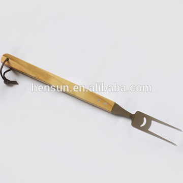 Long Wooden Handle BBQ Fork